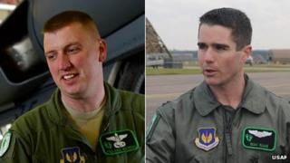 Capt Sean M. Ruane (right) and Technical Sergeant Dale E. Mathews