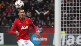Chris Smalling in action for Manchester United