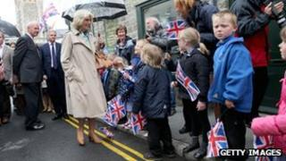 Duchess of Cornwall at Hay-on-Wye