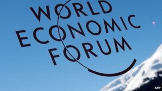 WEF logo in front of mountain