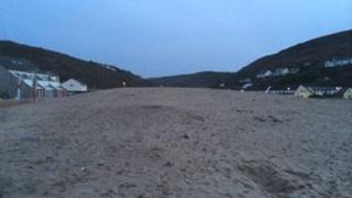 The dunes at Porthtowan beach