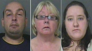 Darren Smith, 35, Carol Moore, 54, and Katie Cairns, 27