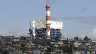 A general view of a Bocamina coal-fired plant on June 5, 2012