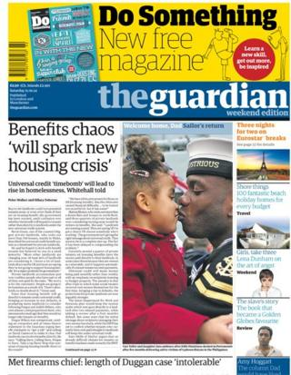 Guardian front page 11/1/14