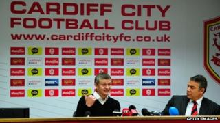 Mehmet Dalman (right) said Cardiff City is on course to be debt free