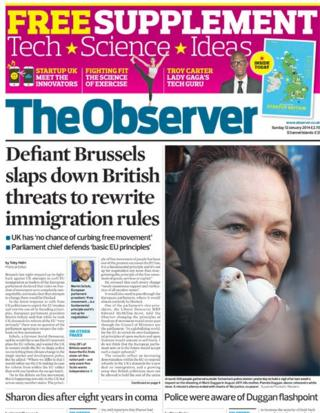 Observer front page 12/1/14