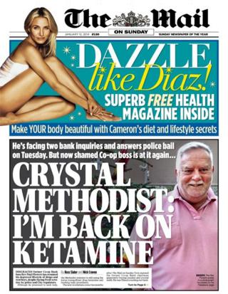 Mail on Sunday front page 12/1/14