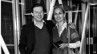 Alexandra Bastedo and husband Patrick Garland