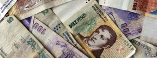 Argentina bank notes