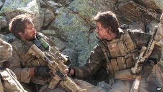 Taylor Kitsch and Mark Wahlberg in Lone Survivor