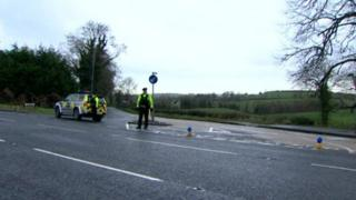 The accident happened on the Ballygowan Road in Saintfield