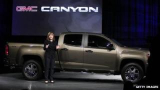 Mary Barra at the Detroit Motor Show