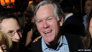 Then-New York Times Executive Editor Bill Keller poses for a photo at a book party in February 2010.