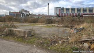 Disused land near Watford Hospital