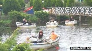 Boating lake at Springfields