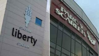 Liberty Stadium and Parc y Scarlets