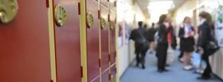 A school corridor