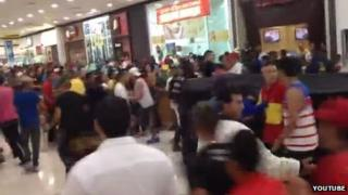 A screengrab from YouTube video of a 'rolezinho' in Sao Paolo