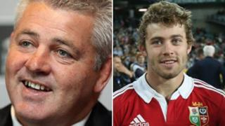 Warren Gatland and Leigh Halfpenny