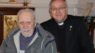 Norman Machin and Father Colin Hewitt