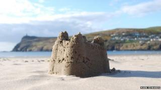 Sandcastle on Port Erin beach