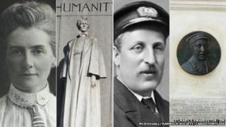Edith Cavell, her memorial in London, Charles Fryatt, his memorial in Liverpool Street Station