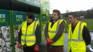 Volunteer rubbish collectors