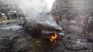 Conflict damage in Aleppo, 18 Jan