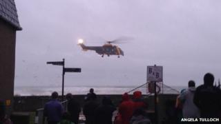 Helicopter at the scene