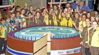 Lego cake for Brownie centenary