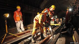 Overnight maintenance on the London Underground