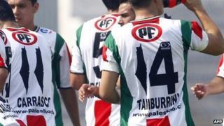 Controversial Palestino football shirt