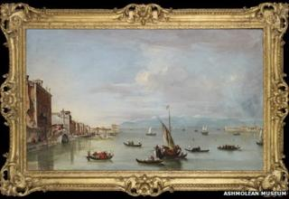 Venice: the Fondamenta Nuove with the Lagoon and the Island of San Michele by Francesco Guardi