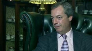 Nigel Farage at Walpole Bay Hotel