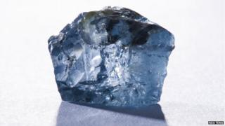The exceptional 29.6 carat blue diamond recovered earlier this month is seen in this undated photograph received via Petra Diamonds in London January 21, 2014.