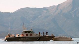 A Greek coast guard vessel (file image)