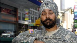 Army Captain Kamaljeet Singh Kalsi in New York, New York, on 14 September 2010