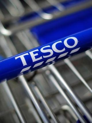 Handle of Tesco trolley