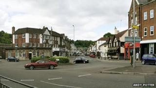 Croydon Road in Caterham