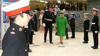 The Queen at Blackburn train station
