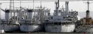 US naval vessels