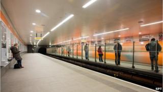 Revamped Ibrox Subway Station