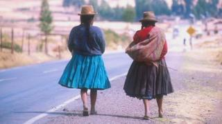 Two Peruvian women in file photo from 2000