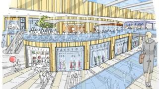 An artist's impression of the Broadmarsh
