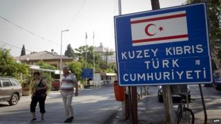 Northern Cyprus border in UN-controlled buffer zone - file pic
