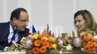 Francois Hollande and his former partner Valerie Trierweiler