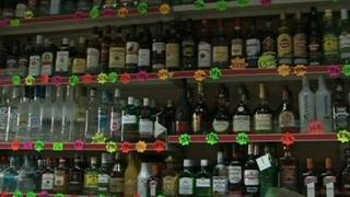 Alcohol at an off licence