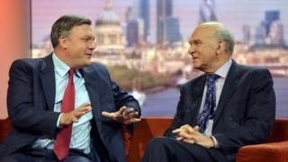 Ed Balls and Vince Cable