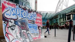 Wireless Festival billboard