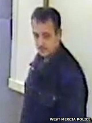 CCTV image of a man killed by a lorry on the M42